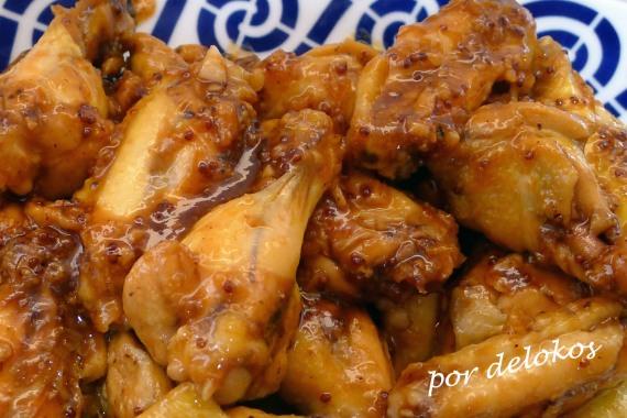 Alitas de pollo picantes con miel, por delokos