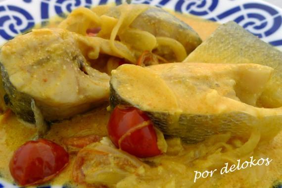 Curry de pescado con leche de coco, por delokos