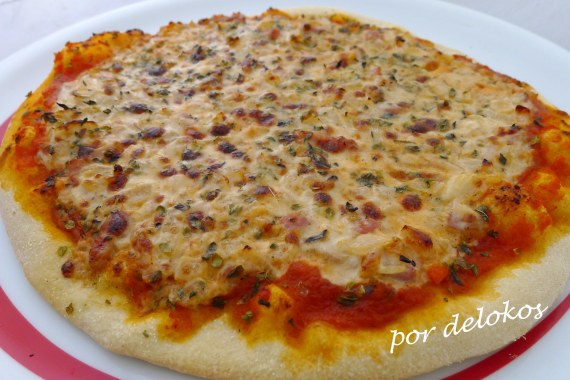 Pizza carbonara, por delokos