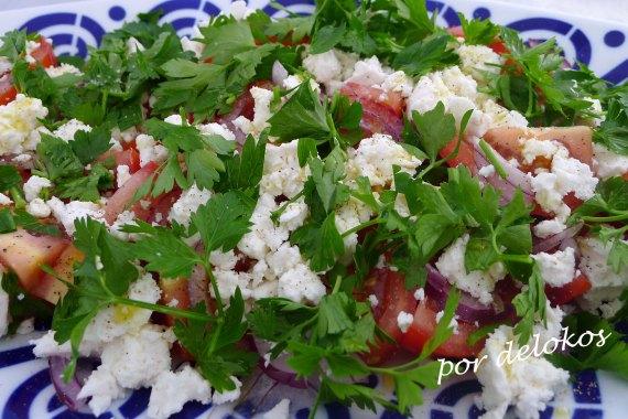 Ensalada de tomate y perejil, por delokos