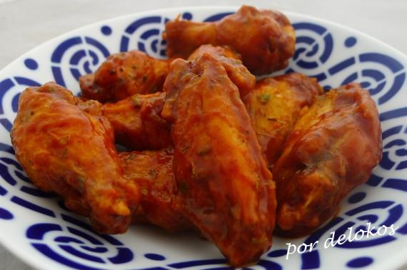 Alitas de pollo picantes, por delokos