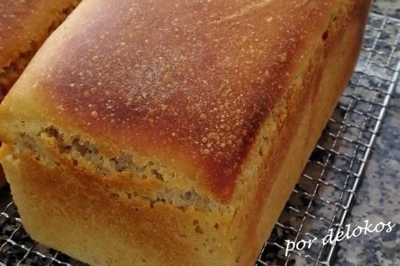 Pan blanco de masa madre en molde, por delokos